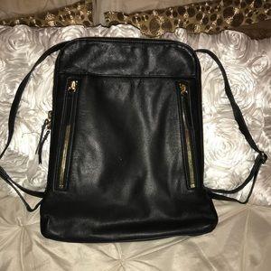 Margot Black Leather Backpack